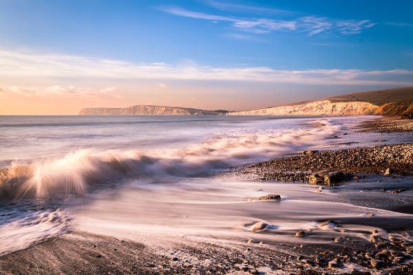 Compton Bay Beach 3 Canvas print by Wight Landscapes