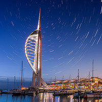 Buy canvas prints of Spinnaker Tower With Star Trails by Wight Landscapes