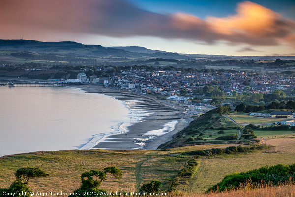 Sandown Isle Of Wight Print by Wight Landscapes