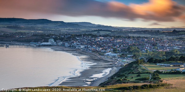 Sandown Isle Of Wight Panorama Print by Wight Landscapes