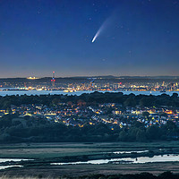 Buy canvas prints of Neowise Comet Over Portsmouth by Wight Landscapes