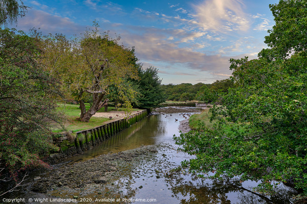 Shalfleet Below The Mill Framed Print by Wight Landscapes