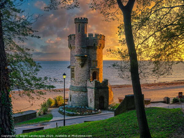 Appley Tower Sunrise Isle Of Wight Print by Wight Landscapes