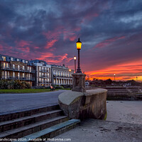 Buy canvas prints of Ryde Western Gardens Sunset by Wight Landscapes