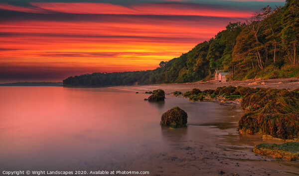 Priory Bay Sunrise Framed Print by Wight Landscapes
