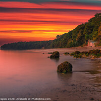 Buy canvas prints of Priory Bay Sunrise by Wight Landscapes