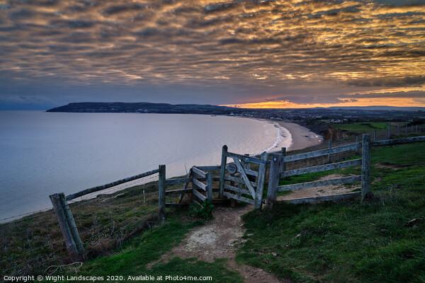 Sandown Bay Sunset Print by Wight Landscapes