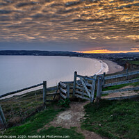 Buy canvas prints of Sandown Bay Sunset by Wight Landscapes