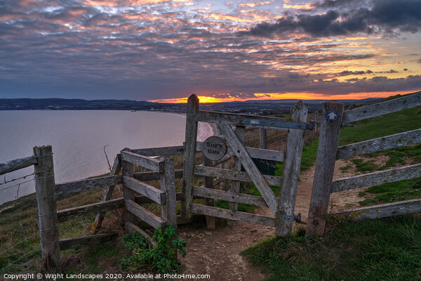Sue's Gate Culver Down Print by Wight Landscapes
