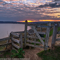 Buy canvas prints of Sue's Gate Culver Down by Wight Landscapes