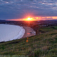 Buy canvas prints of Sandown Sunset by Wight Landscapes
