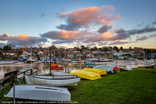 Wootton Creek Dinghy Park Framed Print by Wight Landscapes