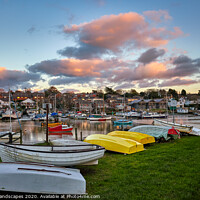 Buy canvas prints of Wootton Creek Dinghy Park by Wight Landscapes