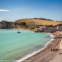 Buy canvas prints of Summer At Freshwater Bay by Wight Landscapes