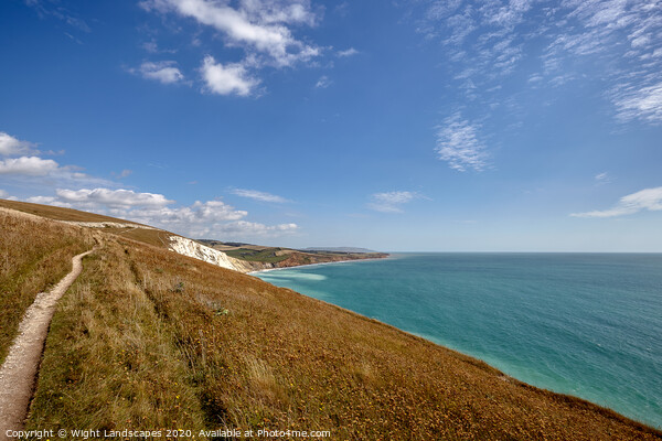Path To Compton Bay Print by Wight Landscapes
