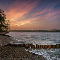 Buy canvas prints of Bembridge Beach Sunset by Wight Landscapes
