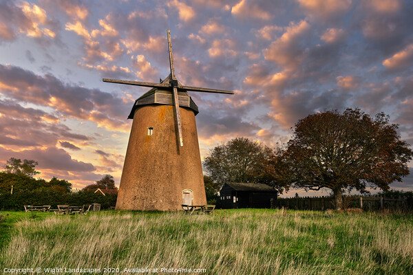 Bembridge Windmill Isle Of Wight Framed Print by Wight Landscapes