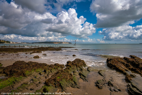 Small Hope Beach Shanklin Framed Print by Wight Landscapes
