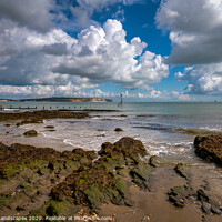 Buy canvas prints of Small Hope Beach Shanklin by Wight Landscapes