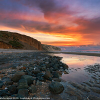 Buy canvas prints of Dawn At Sandown Beach Yaverland by Wight Landscapes