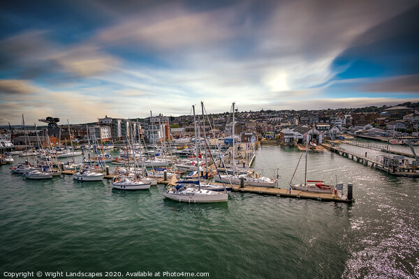 Shepards Marina Isle Of Wight Framed Print by Wight Landscapes