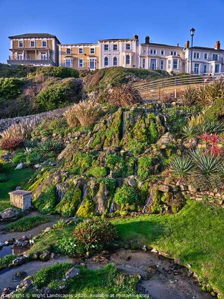 Ventnor Cascade Gardens Framed Print by Wight Landscapes