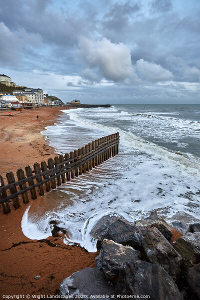 Ventnor Beach Isle Of Wight Framed Print by Wight Landscapes