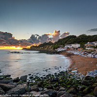 Buy canvas prints of Steephill Cove Sunset by Wight Landscapes