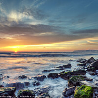 Buy canvas prints of Sunset At Hanover Point by Wight Landscapes