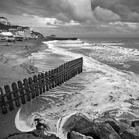 Buy canvas prints of Ventnor Beach BW Isle Of Wight by Wight Landscapes
