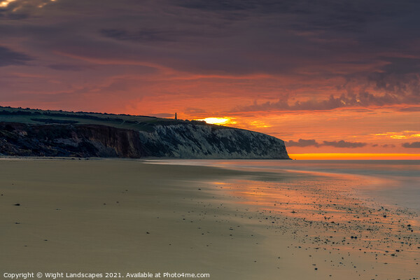 Dawn At Sandown Isle Of Wight Canvas Print by Wight Landscapes