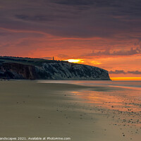 Buy canvas prints of Dawn At Sandown Isle Of Wight by Wight Landscapes