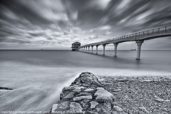 Bembridge Lifeboat Station BW Canvas Print by Wight Landscapes