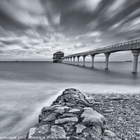 Buy canvas prints of Bembridge Lifeboat Station BW by Wight Landscapes