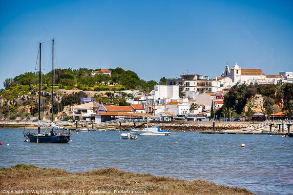 Alvor Town Algarve Portugal Canvas Print by Wight Landscapes