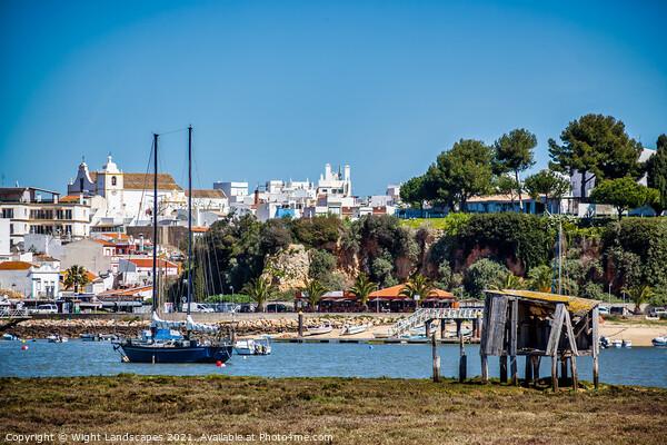 Alvor Algarve Portugal Canvas Print by Wight Landscapes