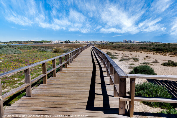 Spring On The Boardwalk Alvor Portugal Canvas Print by Wight Landscapes