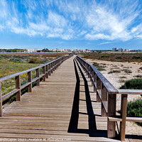 Buy canvas prints of Spring On The Boardwalk Alvor Portugal by Wight Landscapes