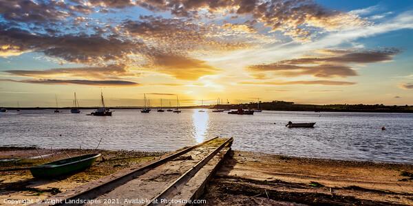 Alvor Sunset Canvas Print by Wight Landscapes