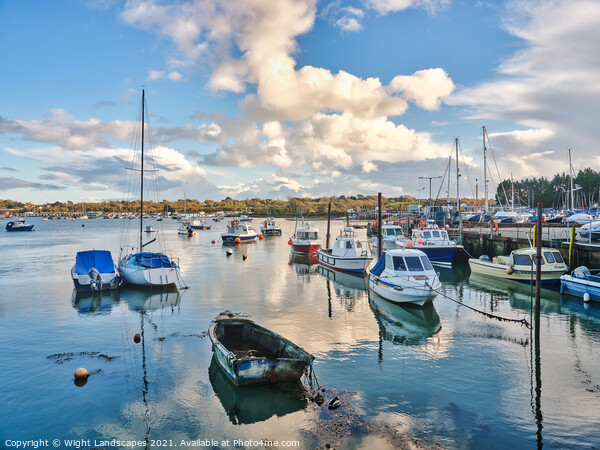 Bembridge Harbour Isle Of Wight Canvas Print by Wight Landscapes