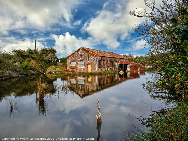 Bembridge Lagoons Boatshed Canvas Print by Wight Landscapes