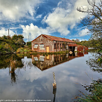 Buy canvas prints of Bembridge Lagoons Boatshed by Wight Landscapes