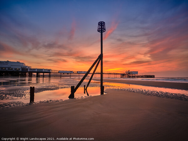 Sandown Pier Isle Of Wight Canvas Print by Wight Landscapes