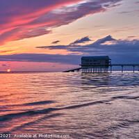Buy canvas prints of Bembridge Lifeboat Station Sunrise by Wight Landscapes