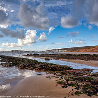 Buy canvas prints of Compton Beach Ledges by Wight Landscapes
