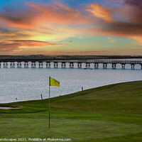 Buy canvas prints of Quinta do Lago Golf The Wooden Bridge Sunset by Wight Landscapes