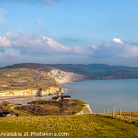 Buy canvas prints of Looking Down On Freshwater Bay by Wight Landscapes