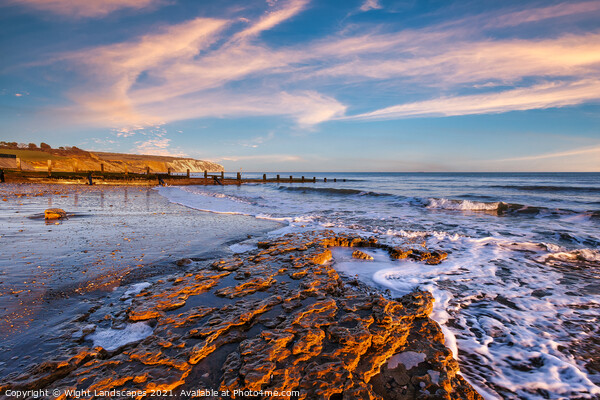 Yaverland Beach Sandown Isle Of Wight Canvas Print by Wight Landscapes