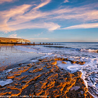 Buy canvas prints of Yaverland Beach Sandown Isle Of Wight by Wight Landscapes