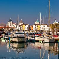 Buy canvas prints of Vilamoura Marina Algarve Portugal by Wight Landscapes